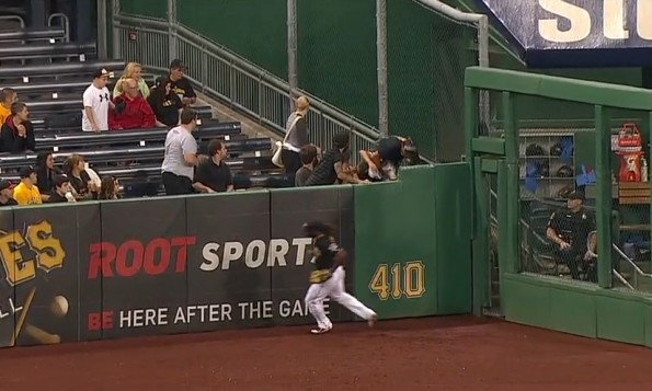 adult pirates fan steamrolls kid