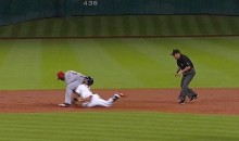 Awkward! Astros' Jonathan Villar Slides Face-First Into Brandon Phillips Butt (Video + GIF)