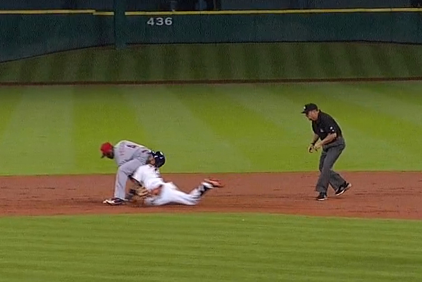 astros jonathan villar slides into brandon phillips ass