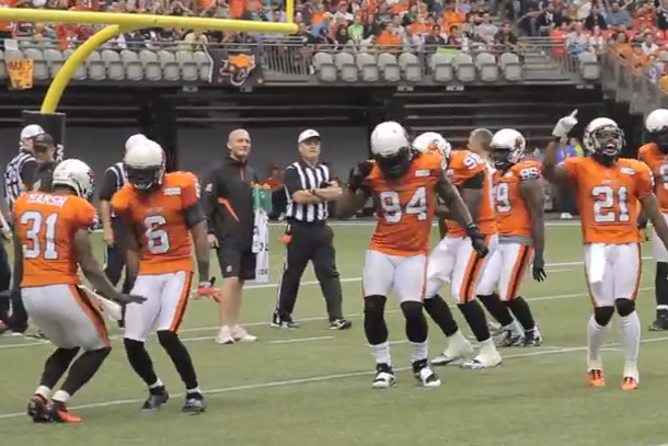 bc lions dancing