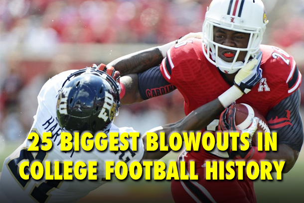biggest blowouts in college football history