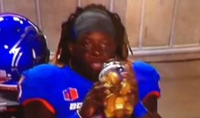 Boise State's Jay Ajayi Drinks Pickle Juice During Games (Vine)