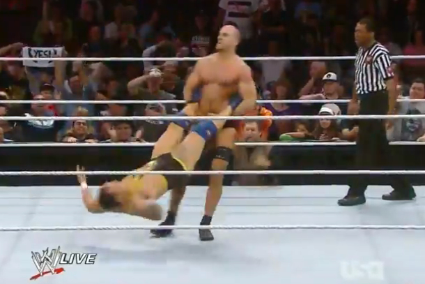 cesaro performs giant swing on santino for 36 seconds