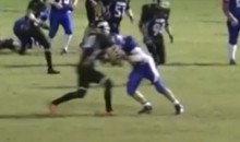 High School Football Player Uses Head Like Battering Ram (Video)
