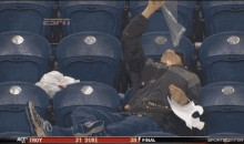 Drunk Washington State Fan Really Likes Popcorn (GIF)