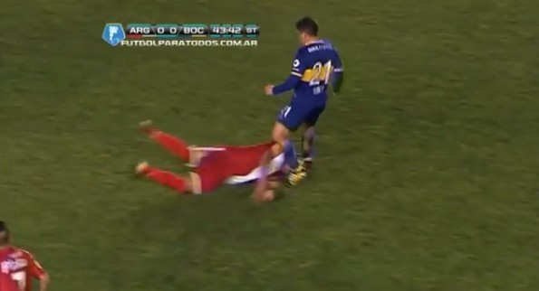 face-first slide tackle