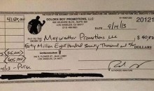 Here's Floyd Mayweather Jr.'s $40-Million Check (Photo)