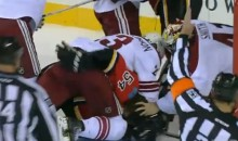 If You Crash into Coyotes Goalie Mike Smith, Expect to Get Your Hair Pulled (Video)