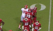 Clemson's Isaiah Battle Lays a Nasty Sucker Punch on NC State's Jarvis Byrd (GIF)
