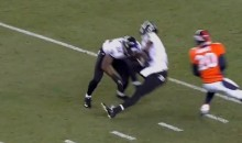 Ravens' All-Pro Punt Returner Jacoby Jones Gets Injured by His Own Teammate (GIF)