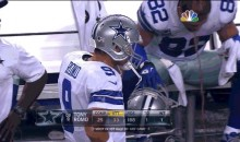 Jason Witten Pukes on the Cowboys Bench (GIF)