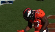 Broncos RB Knowshon Moreno Celebrates Touchdown by Playing Rock-Paper-Scissors (GIF)