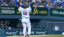 Korean Baseball Player Flips Bat on a Foul Ball That Wasn't Even Close (Video)
