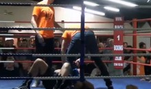 Badass Boxing Ref Suplexes Out-of-Control Fighter (Video)