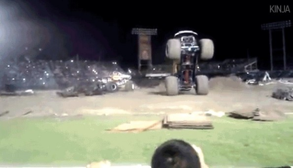 out of control monster truck