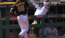 No Fear: Pirates Catcher Tony Sanchez Tumbles Head-First Into Dugout to Catch Foul Ball (Video)