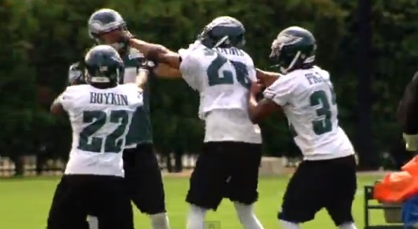 riley cooper cary williams eagles practice fight