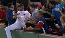 Shane Victorino Dives into Stands to Catch Foul Ball, Hijinx Among Fans Ensues (Video)