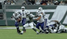 Jets' Sheldon Richardson Celebrates Early, Resulting in 59-yard Run by Fred Jackson (GIF)