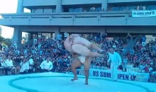 Sumo Wrestler Gets Owned (Video)