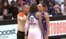 Diana Taurasi Kisses Seimone Augustus During WNBA Playoff Game (Video)