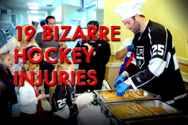 weird and bizarre hockey injuries