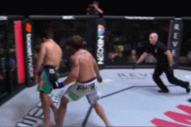 weird mma knockout