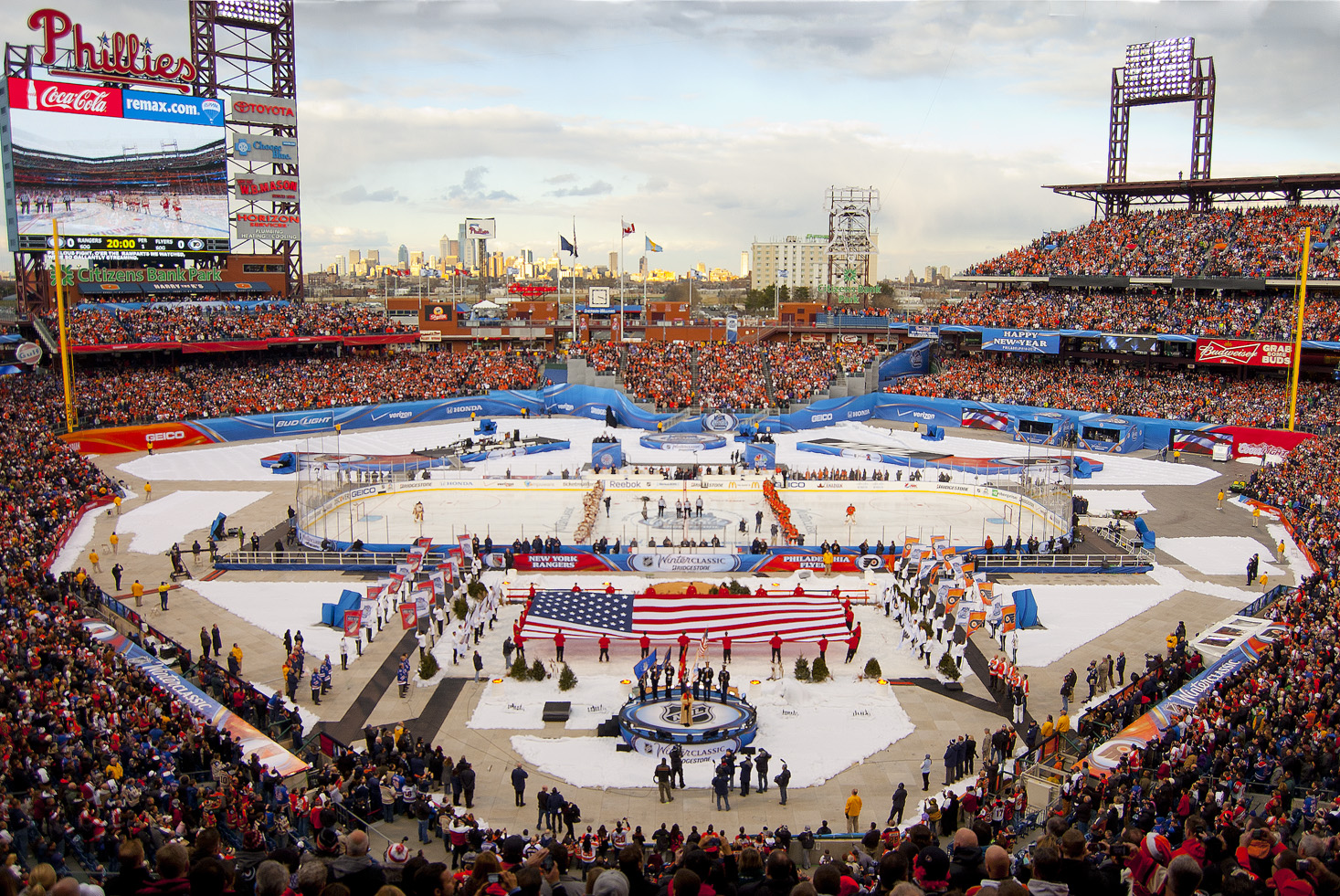 10 winter classic at citizens bank park - weird sports venues