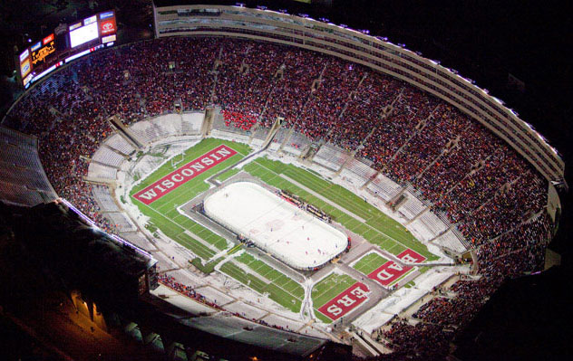 14 college hockey at camp randall stadium - weird sports venues