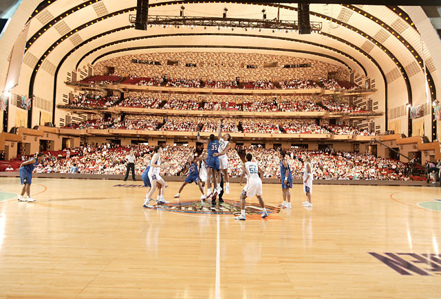 16 wnba game in radio city music hall (shock vs liberty 2004) - weird sports venues