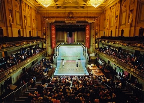 17 squash in boston's symphony hall - weird sports venues