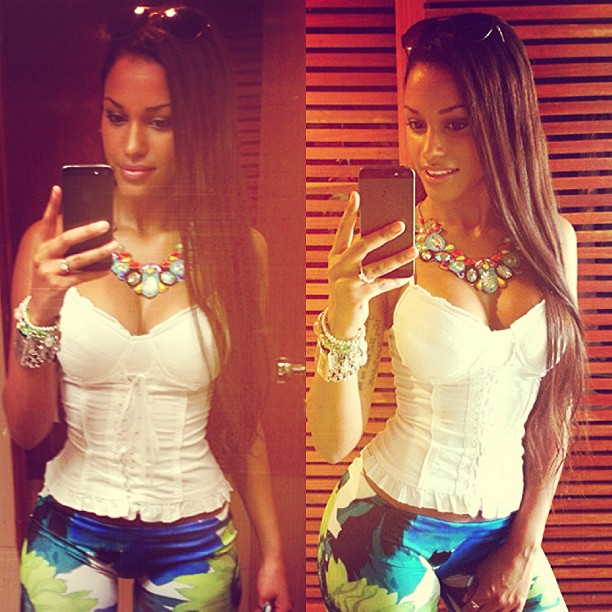 2 Fanny Neguesha (Brazilian model, fiancée) - hottest girlfriends of Mario Balotteli