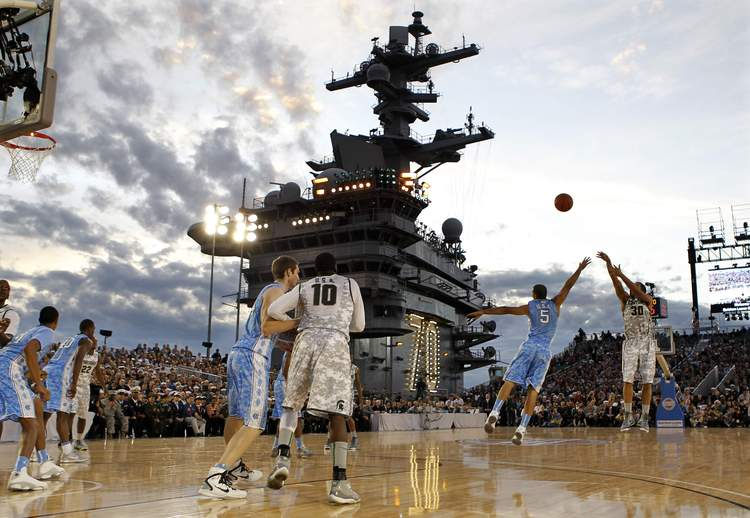 2-unc-msu-game-on-uss-carl-vinson-weird-sports-venues