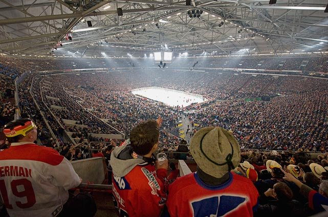 23 usa vs germany iihf world championships at Veltins-Arena - weird sports venues