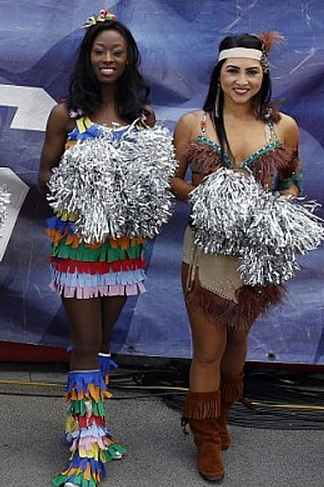28 NFL Cheerleaders Halloween Costumes 2013 - patriots indian cheerleader