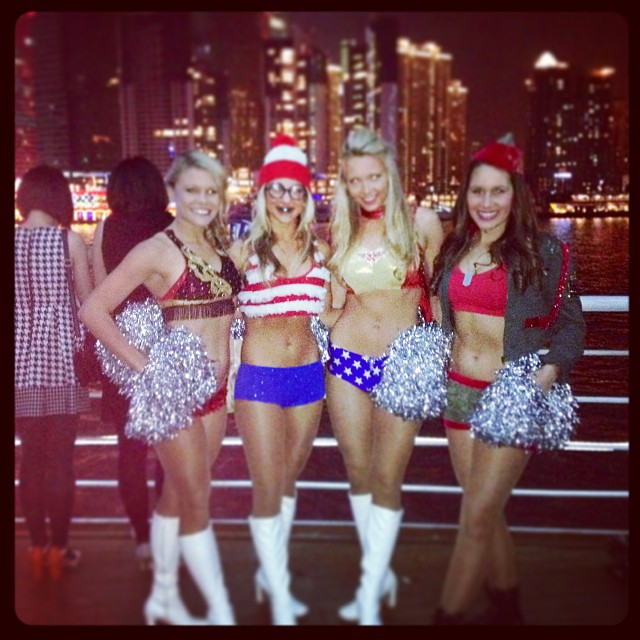 8 NFL Cheerleaders Halloween Costumes 2013 - patriots cheerleader where's waldo