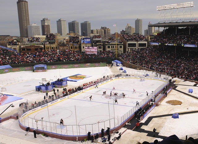 9 winter classic 2009 wrigley field - weird sports venues