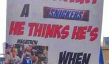 Dez Bryant vs Megatron Fan Sign (PIC)