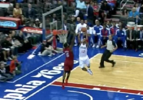 Evan Turner dunk on LeBron James