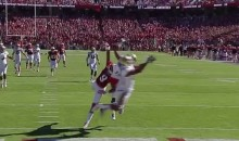 Stanford's Kodi Whitfield Makes a Ridiculous One-Handed Touchdown Catch (GIFs)