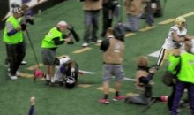 Ravens Photographer Suffers Torn Achilles, Returns in Walking Boot (GIFs)