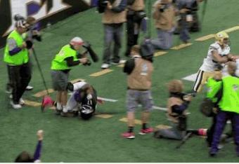 Ravens Photographer Tears Achilles