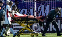 Revolution Striker Saer Sene Suffers Gruesome Broken Leg and Dislocated Ankle (Video)
