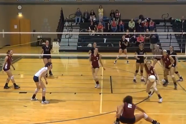 amazing volleyball play