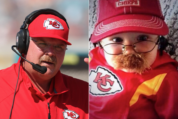 chiefs fans honor coach andy reid with cutest baby costume