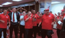 Andy Reid Celebrates The Chiefs' Undefeated Streak With Locker Room Shuffle (GIF)