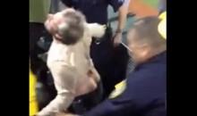 Crazy A's Fan Attacks Cops, Gets Tased During Playoff Game (Video)