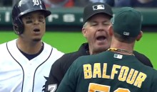 Grant Balfour and Victor Martinez Let the Expletives Fly During this 9th Inning Altercation (Videos)