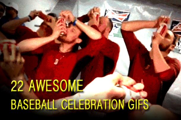 baseball celebration gifs