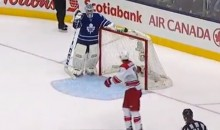 Jonathan Bernier Channels His Inner Jonathan Quick—By Letting in Soft Goals (Video)
